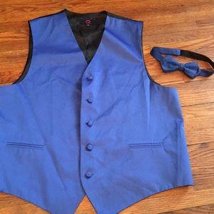 Q brand men's vest and bow tie